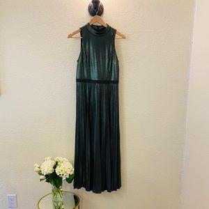 Donna Karan Green Sparkles Midi Dress